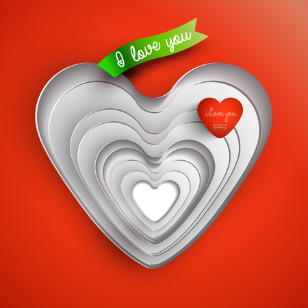3d heart-Valentine Vector
