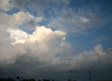 white and gray clouds