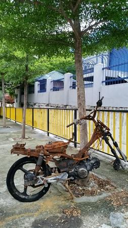oxidado: Bicicleta oxidada