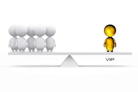versus: 3D illustration of a VIP.