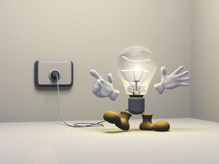 Illustration of a bulb has a new idea or a good thought. illustration
