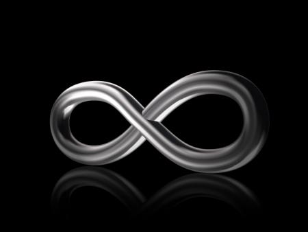 3D infinity symbol. photo