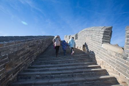 greatwall: People walking on the Greatwall