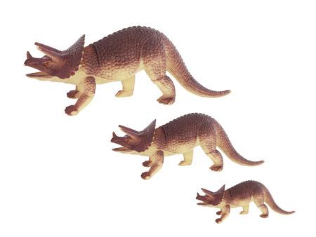 taxonomic: Dinosaurs on a white background Stock Photo