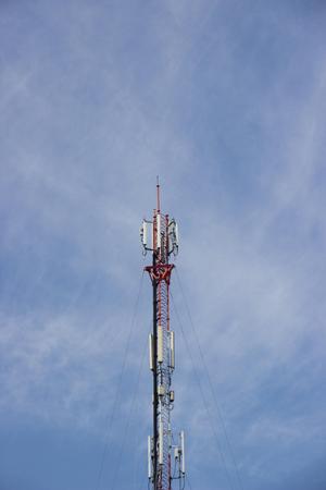 telephone pole: Telephone pole on Sky clouds