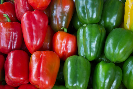 bell peppers: colourful bell peppers Stock Photo