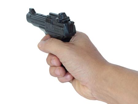 paramilitary: Mobile gun ready to shoot Stock Photo
