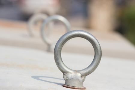a loop: metal loop Stock Photo