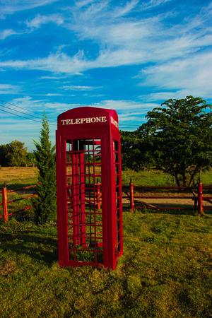 red telephone: Red telephone box