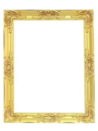 goldenen Vintage-Rahmen auf weißem Hintergrund