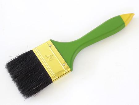 Green paint brush