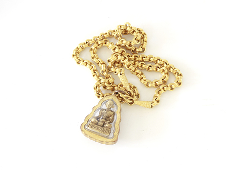neckless: Gold neckless Stock Photo