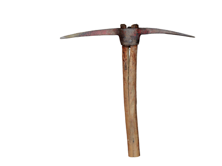 ore: pickaxe for ore extraction on a white background