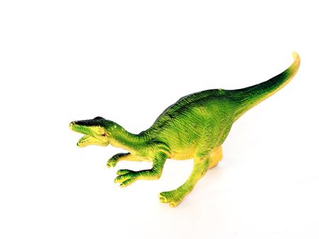 Green dinosaur on a white background Stock Photo