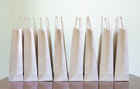 Paper bags made of crate paper reduce global warming.