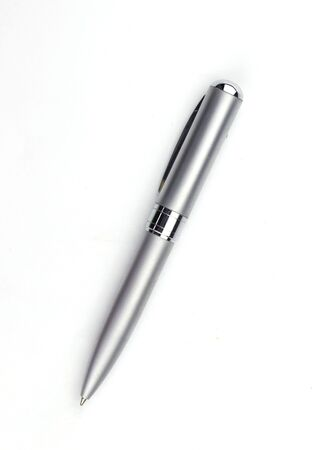 Pen for business documents placed on a white background.