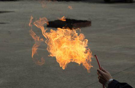 The wood-burning fires can be taken as fuel, causing hazards. Stock fotó