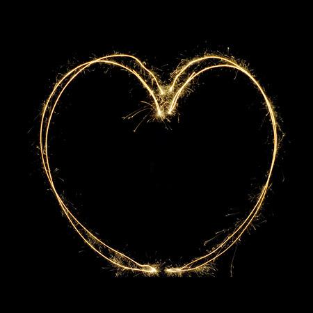 heart heat: Sparkler heat heart Stock Photo