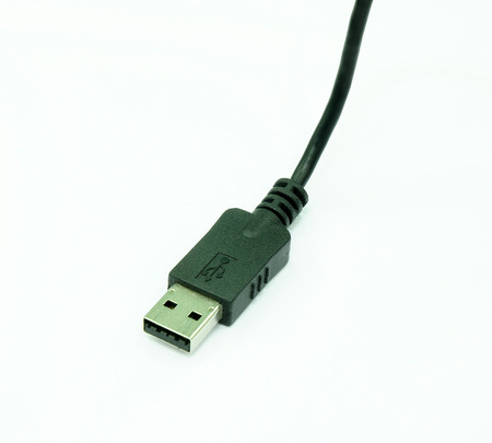 interconnect: USB cable on white background