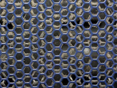 mesh: Blue Plastic mesh background