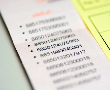 random: Table of Random Numbers Stock Photo