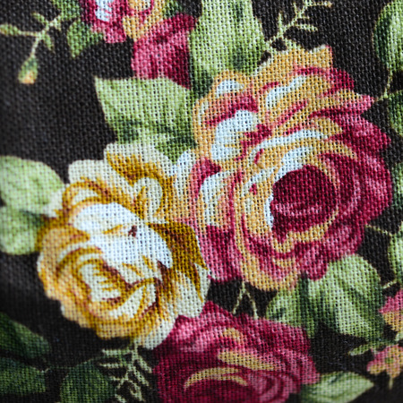 magnificence: fabric flowers as background