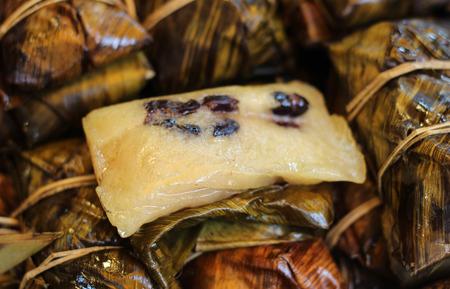 mush: Bunch of mush in banana leaf
