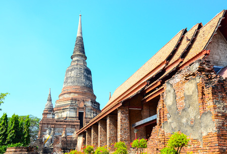 chaimongkol: Wat Yai Chaimongkol at thailand Stock Photo