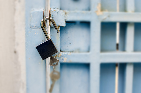 unlocked: physical safety concept, unlocked door.