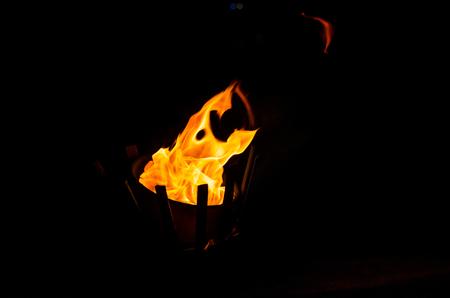 lamp light: flame on lamp light oil Stock Photo