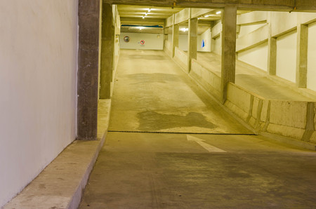 parking garage: Entrance ramp to  parking garage