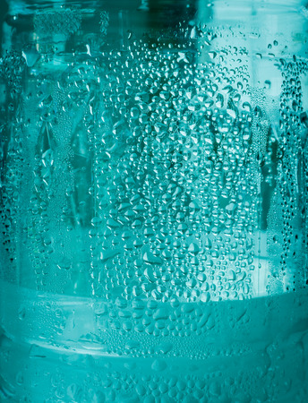 refreshed: blue drops water