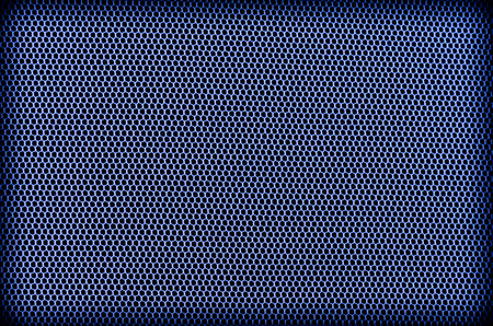mesh: texture of blue mesh and black background