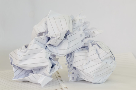 maul: Stack of Maul paper on white background Stock Photo