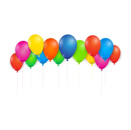 colorfull: Colour full balloons isolated on white background. illustrator