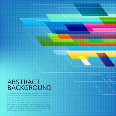 Abstract Geometric background . High technology computer innovation on the blue background. Vector illustration eps10. Illustration