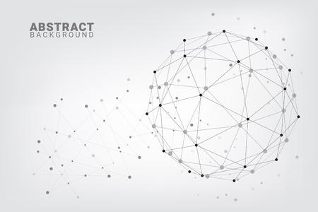 Fond de technologie abstraite Fond de vecteur géométrique. Connexions réseau mondiales avec points et lignes. Connexion minimale au réseau Hub arrière-plan de ligne