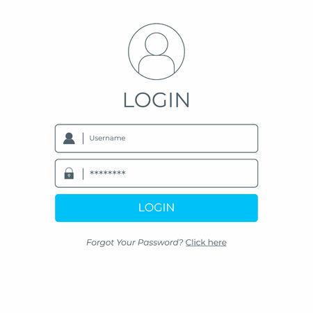Inicie sesión e inicie sesión en la interfaz de usuario. Plantilla de interfaz de usuario moderna de sitio web empresarial.