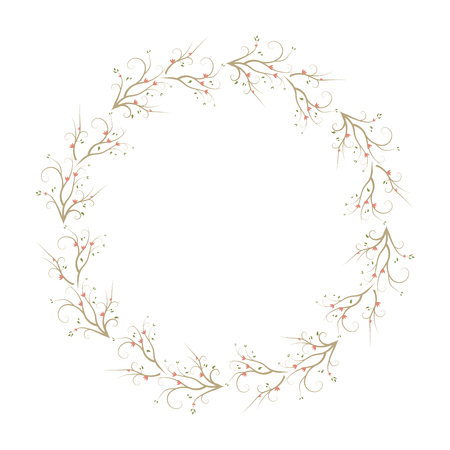 Seamless Pattern Wreaths with flower. floral frame background.