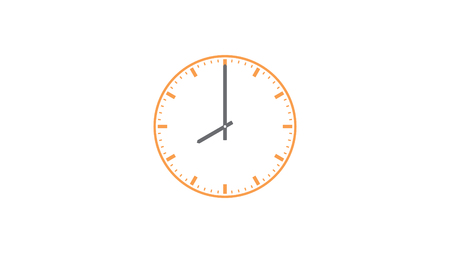 Clock outline icons