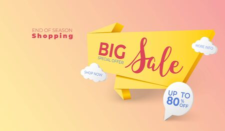 Big sales discount banner background. graphic resource for online shopping.