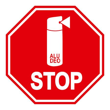 aluminium: Aluminium deodorant prohibition symbol