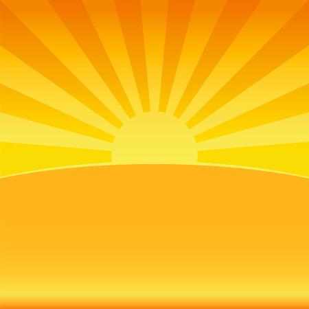 Sfondo di illustrazione del sole