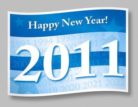 Happy new year 2011 illustration