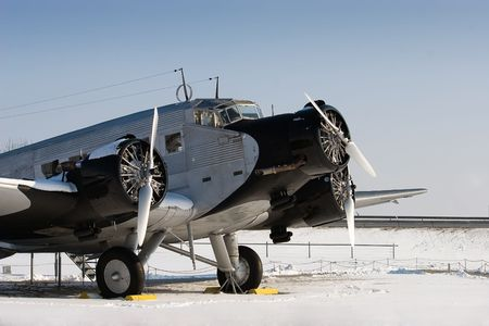 The Junkers Ju 52 was used as an civilian airliner and military aircraft manufactured between 1932 and 1945 by Junkers corporation Stock Photo