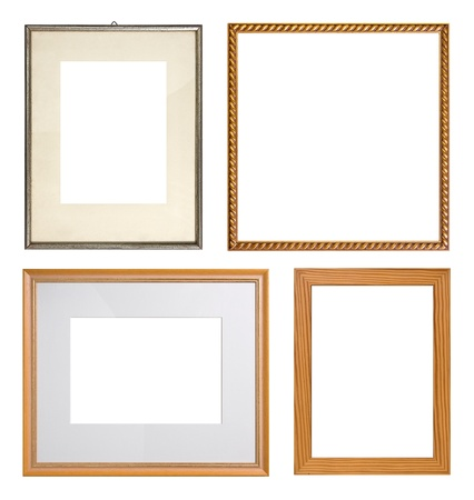 Picture frame collection, isolated on white