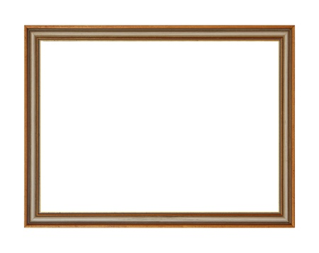 Wooden picture frame, isolated on white
