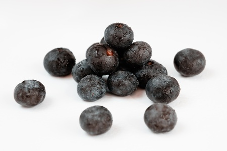 acai: Acai, the small superfruit from the brazilian amazon, very rich in naturally nutrients and antioxidants. Stock Photo