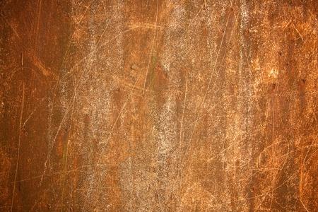Fondo de metal oxidado con superficie rayada. Foto de archivo