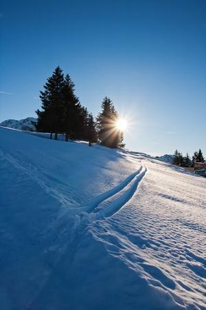 Beautiful winter landscape, Rossfeld, Germany